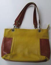 Yellow CHRISTINA IN PELL High Quality ITALIAN Pebble Leather Handbag