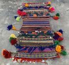 Hand Woven Made Afghan Khurjeen Saddle Bag Wall Hanging Area Rug 2.6 x 1.0 Ft