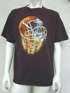 NFL Imagewear Cleveland Browns T-Shirt Size Men's XL Rising Supercharged Helmet