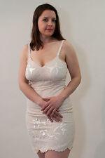 Vanity Fair Embroidered Lined Full Slip; vintage 60's; dress, chemise, nightie