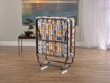 Torino Metal Comfort Folding Bed - Plaid ~ Portable