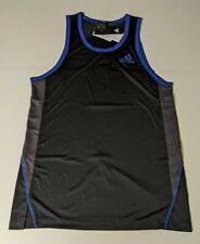 Adidas Foundation Tank Black Blue Gray M Bq5322 Basketball Jersey Training