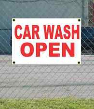 2x3 Car Wash Open Red & White Banner Sign New Discount Size & Price Free Ship