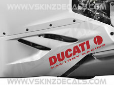 2x Ducati Factory Racing Premium Cast Decals Stickers Monster Panigale 916 300mm