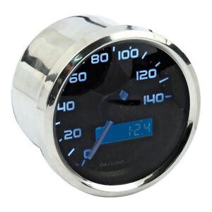 Velona Tachimetro 60mm, Acciaio Inox Illuminazione Bianco, fino A 140 Km/H , Per