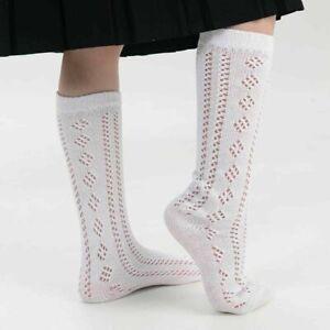 New Girls 3 Pairs Pelerines Long Back To School Knee High Morris Dancing Socks