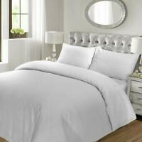 Hotel Luxury White Stripe Bedding Duvet Quilt Covers Set Double Size
