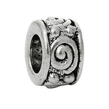 2PC Nickel Free Ring Spacer Charm Bead Gift for Silver European Style Bracelets