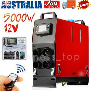 Diesel Air Heater All IN 1 ONE 5KW LCD Switch Remote Silencer Caravan Trailer RV