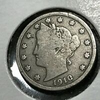 1910 LIBERTY NICKEL PARTIAL LIBERTY NICE COIN