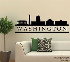 Washington DC Skyline Vinyl Wall Decal Wall Sticker Man cave Bedroom Removable