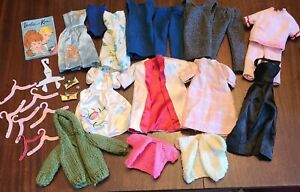 VTG Barbie Accessories Lot Clothes Hanger Purse Magazine Dress Sweater Pants tag
