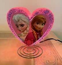 Disney Frozen 2 Anna and Elsa Eva Heart Shaped Lamp Nightlight