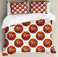 Sports Theme Duvet Cover Set Twin Queen King Sizes with Pillow Shams Ambesonne