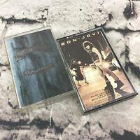 Bon Jovi Vintage Cassette Tapes Lot Of 2 80's Classic Rock Music