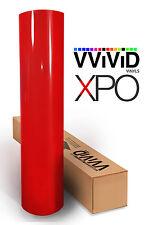 "Vvivid 3"" x 4"" sample Blood Red Gloss 3mil vinyl car wrap sticker"