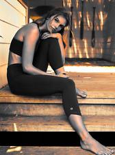NEW ! Athleta ORGANIC COTTON Be Present Capri S SMALL | Black Tight Leggings