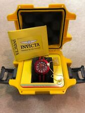 Invicta 18616 Pro Diver 44mm Red White Nylon Band Men's Watch With Case Complete