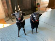 Holy Grail Sheep And Ram Putz Black Faces & Wooly Coats Stick Legs Germany Toy