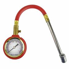 Tyre Pressure Gauge With Flexible Hose And Air Release Valve 5 - 70 PSI AT687