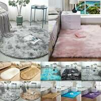 Round Circle Non Slip Shaggy Carpet Living Room Floor Mats Washable Fluffy Rug