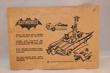 Corgi Toys 267 empty envelope for Batmobile spare missiles very scarce. *2*