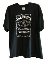 Vintage Jack Daniels T Shirt Old No.7 90s Black Men's Size Large Gildan Heavy
