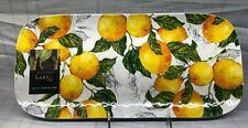 """Nicole Miller Melamine Lemon Serving Tray Platter Plate Snack Appetizer New 15"""""""
