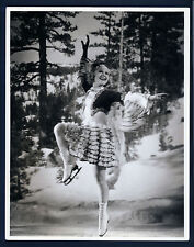 3 TIME OLYMPIC GOLD MEDAL ICE SKATER SONJA HENIE IN ACTION- OVERSIZE DBLWT 1930s