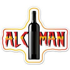 "Alcoman Alcohol Drinker Drunk car bumper sticker decal 5"" x 4"""