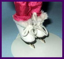 """Faux Fur Trim ICE SKATES Doll SHOES fit Eden 8"""" MADELINE & Friends"""