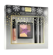 New Laura Geller Star Treatment Set Lip Gloss Mascara Eyeliner Eyeshadow Kit