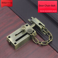 Stainless Steel Chain Bolt Safety Sliding Doors Hasp Latch Gate Locks Pickproof