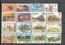 S8834 - TANZANIA 1984 - LOTTO 16 TEMATICI DIFFERENTI - VEDI FOTO