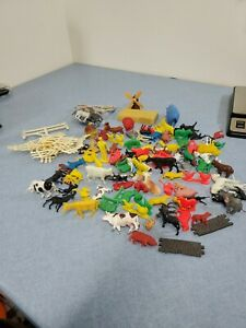 Huge Lot of Vintage Plastic Farm Animals Fences.  Timmee Toys, Fisher Price...