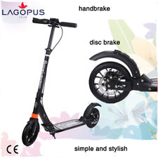 2018 New Folding 200mm Big Wheels Suspension Black Adult Scooter Disc Brake