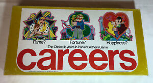Vintage 1976 CAREERS Board Game Parker Brothers Fame Fortune Happiness, Complete