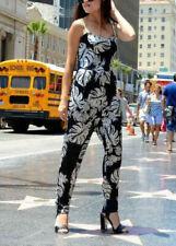 Zara Tropical Floral Print Jumpsuit Size XS S M