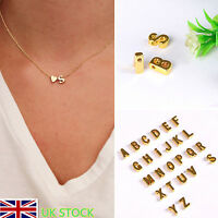 UK Personalised 26 Letter Alphabet A - Z Pendant Necklace Heart-shaped Jewellery