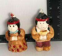 Vintage Native American Ceramic Salt & Pepper Shaker Set