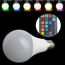 16 Colors Wireless Remote Control 85-265V E27 LED 20W RGB Changing Light Bulb