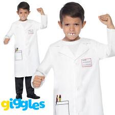 Bambino CAMICE BIANCO Costume Bambini MEDICI Scienziato Costume Ragazzi Ragazze