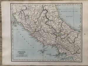 1853 Ancient Central Italy Hand Coloured Antique Map by Alexander Findlay