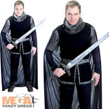 Sheriff of Nottingham Mens Fancy Dress Medieval Knight Tudor Adults Costume New