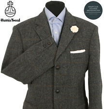 Harris Tweed Jacket Blazer 42R Herringbone Windowpane Country Check Hacking