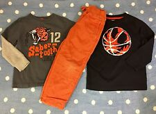 Gymboree Boys 3 Piece Lot ~ Size 5/ Pants & Two Tops ~ Orange/Ball/Tiger EUC
