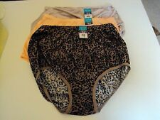 3 Vanity Fair Perfectly yours Ravissant Briefs Style 15712 Size 8 Print & Solid