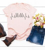 HEARTBEAT MAMA TSHIRT Mothers Day Gifts idea for her funny T-shirt 358