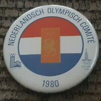 Nederlandsch Olympisch Comite Pin Netherlands 1980 Olympic Committee button