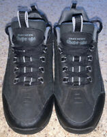 Skechers Shape Ups Black Leather Men's Walking Shoes Size 10.5 ~ EUC